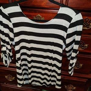 Faith and Joy Striped Blouse